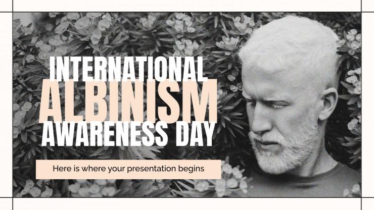 Internationale Tag der Aufklärung über Albinismus Präsentationsvorlage