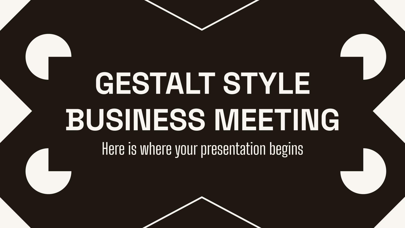 Gestalt Style Business-Meeting Präsentationsvorlage