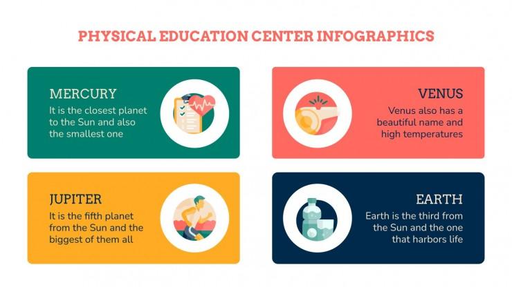 Infographies centre d'éducation physique : Modèles de présentation