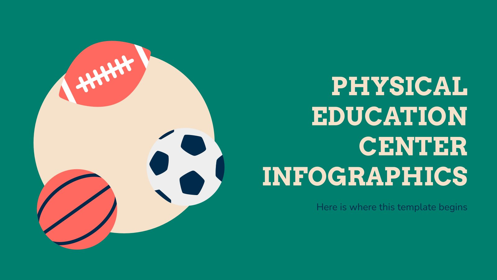 Physical Education Center Infographics presentation template