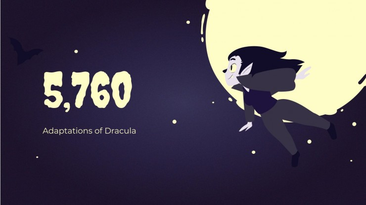 Spooky Dracula Day! presentation template