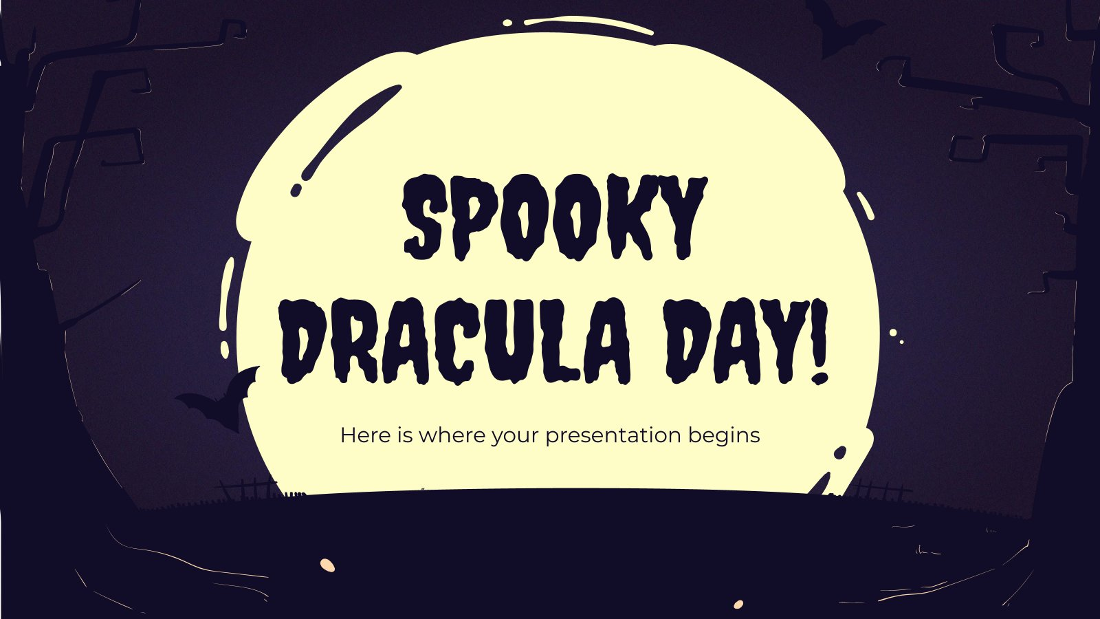 Spooky Dracula Day! presentation template