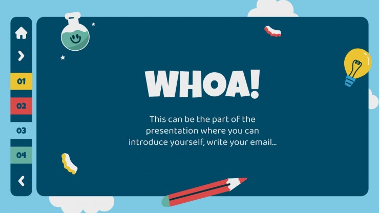 Interactive Education Pack for Students presentation template