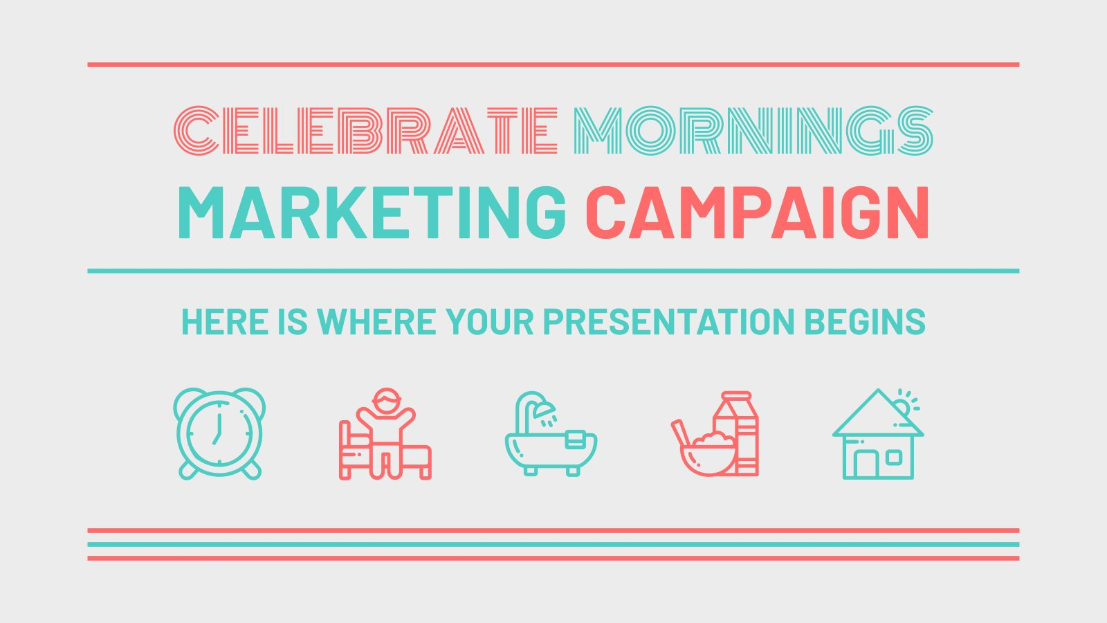 Celebrate Mornings Campaign presentation template