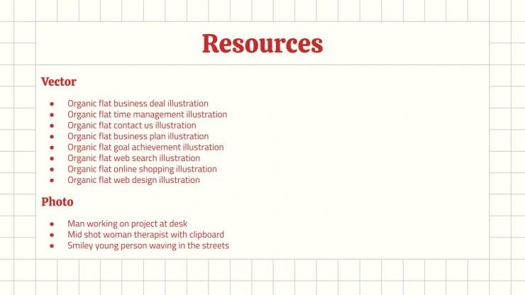 Modelo de apresentação Proposta de negócios com grade