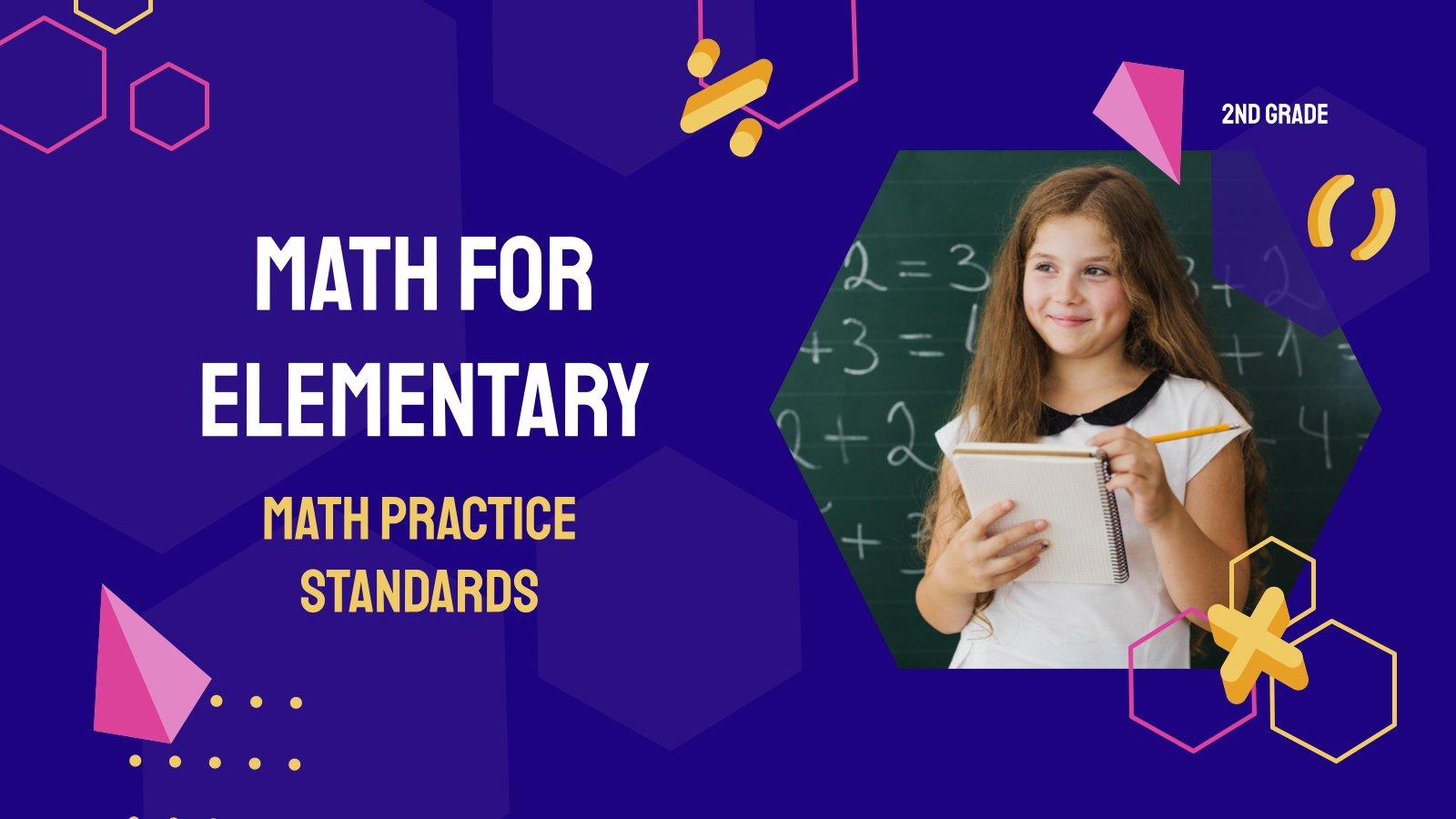 Math Practice Standards - Math for Elementary 2nd Grade presentation template