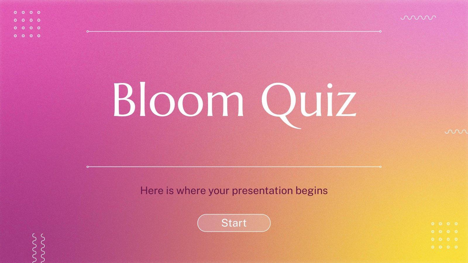 Bloom-Quiz Präsentationsvorlage