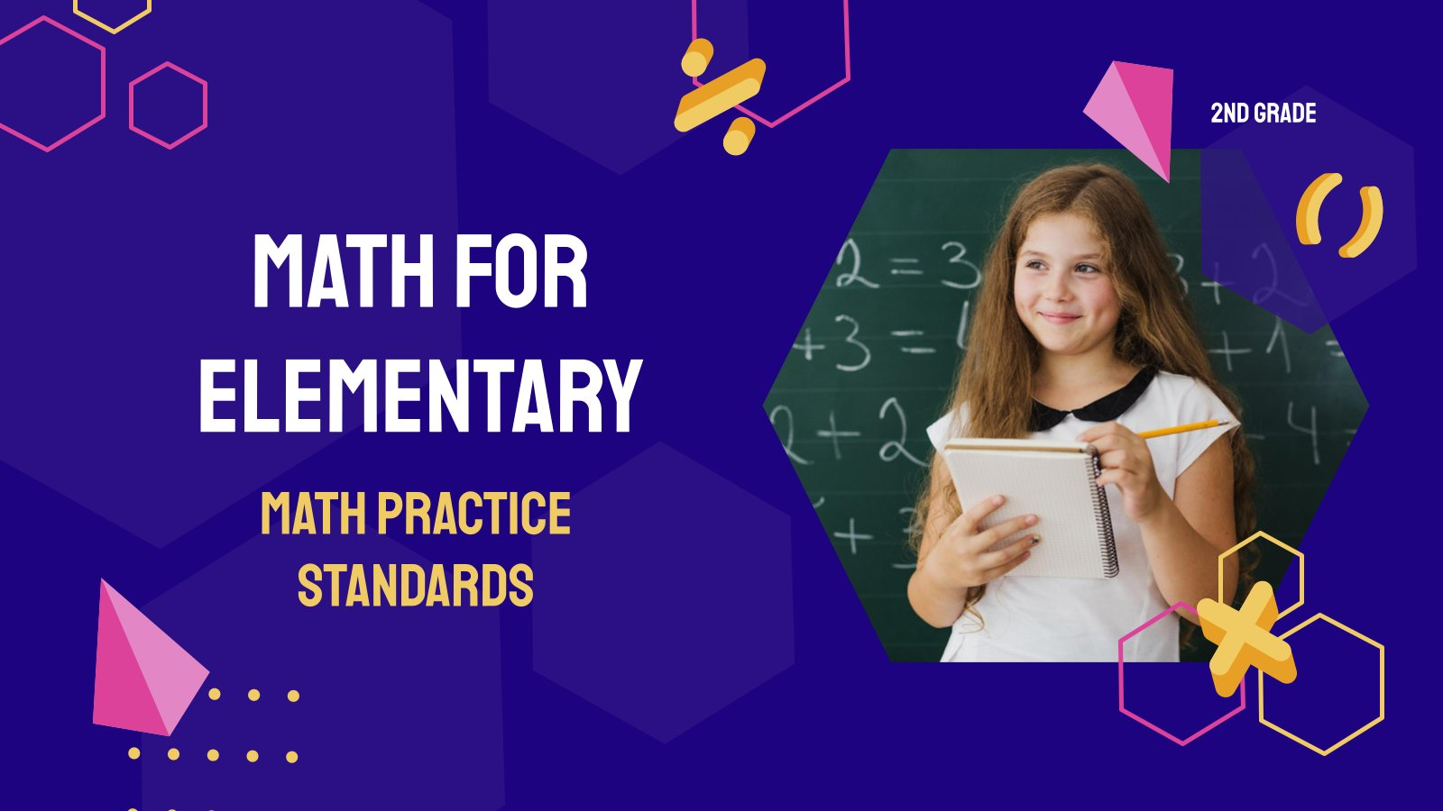 Math Practice Standards - Math for Elementary 2nd Grade presentation template