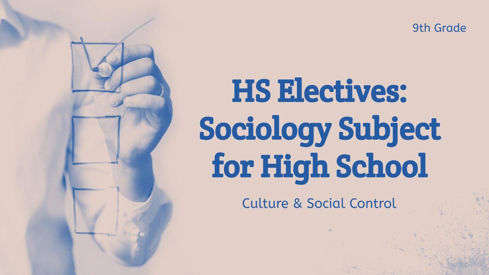 Plantilla de presentación Sociología: Cultura y control social