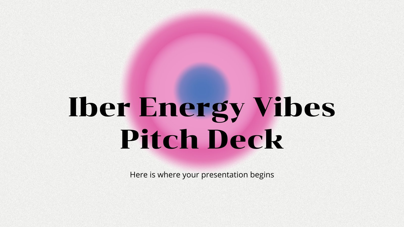 Iber Energy Vibes Pitch Deck presentation template