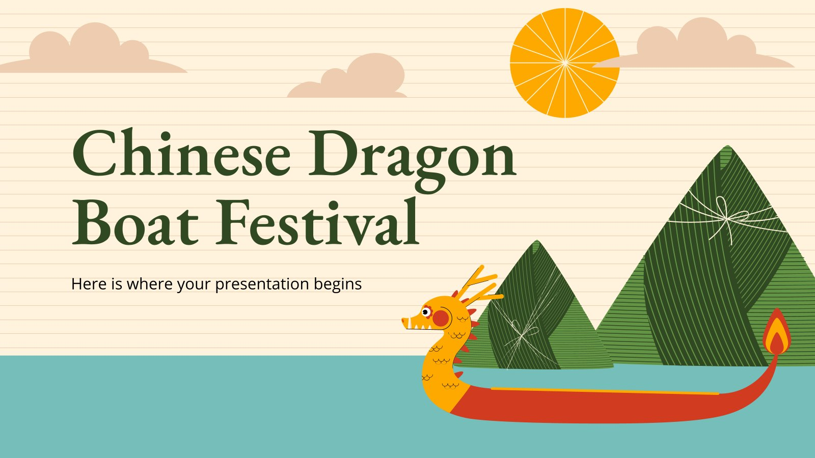 Chinese Dragon Boat Festival presentation template