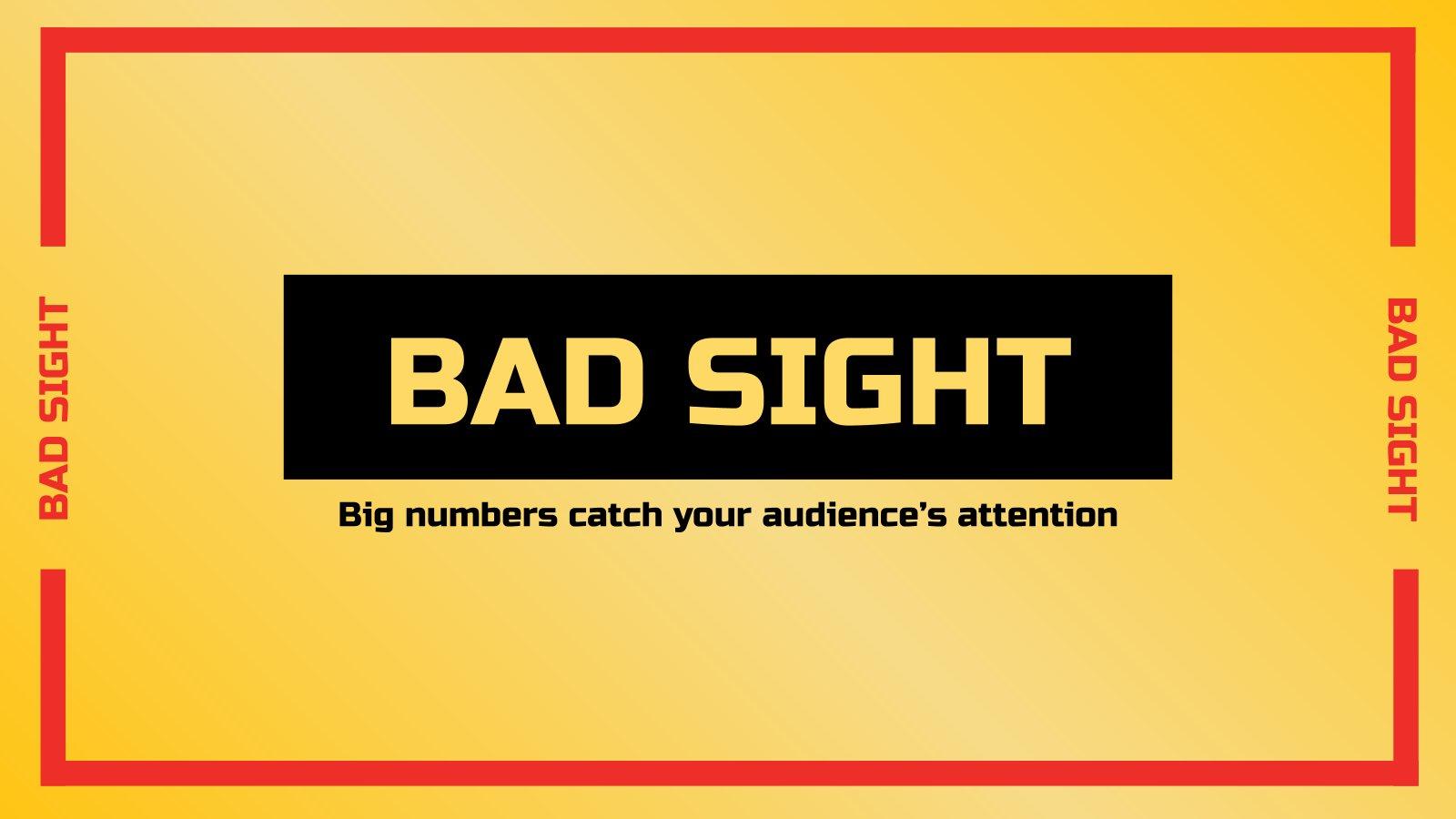 Modelo de apresentação Testes de má visão