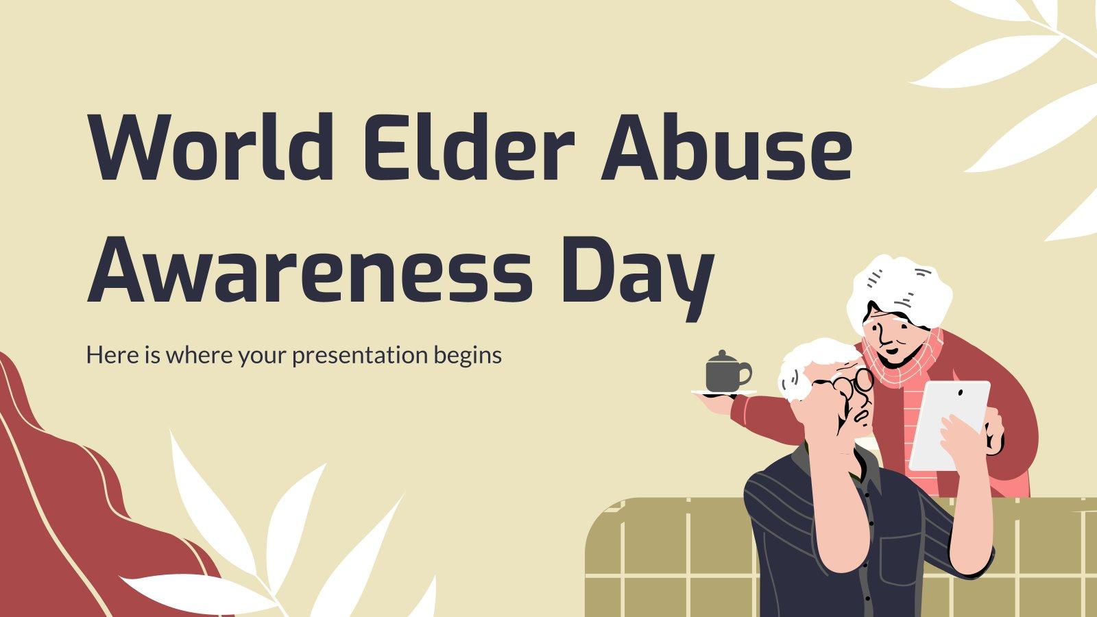 Welttag gegen die Misshandlung alter Menschen Präsentationsvorlage