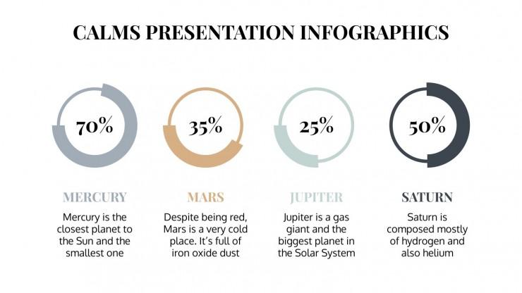 Calms-Infografiken Präsentationsvorlage