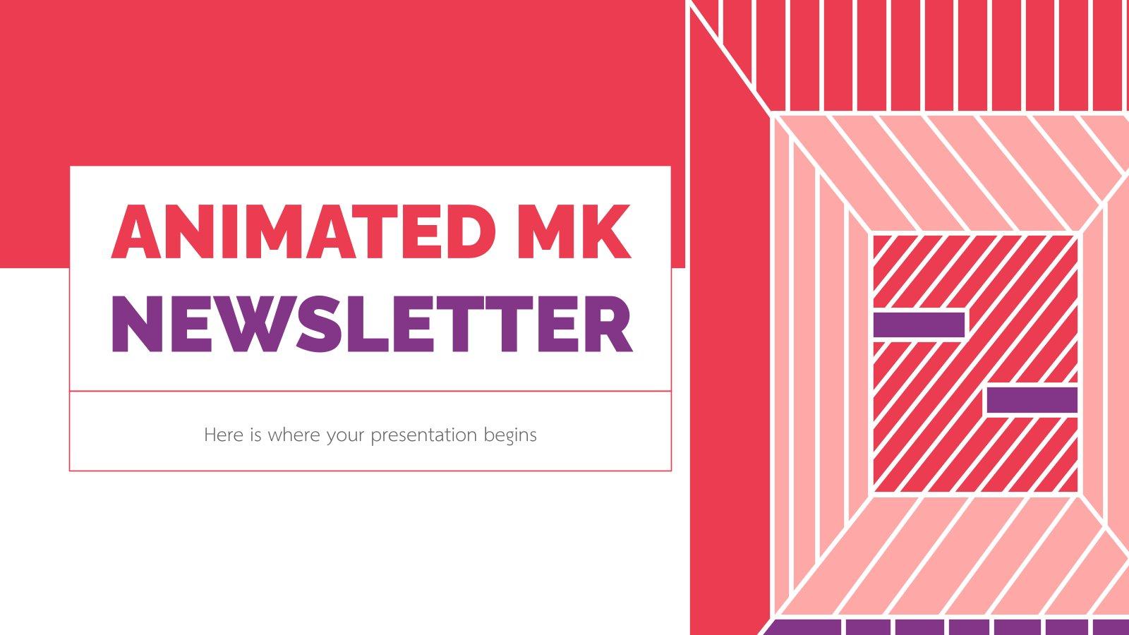 Animated MK Newsletter presentation template