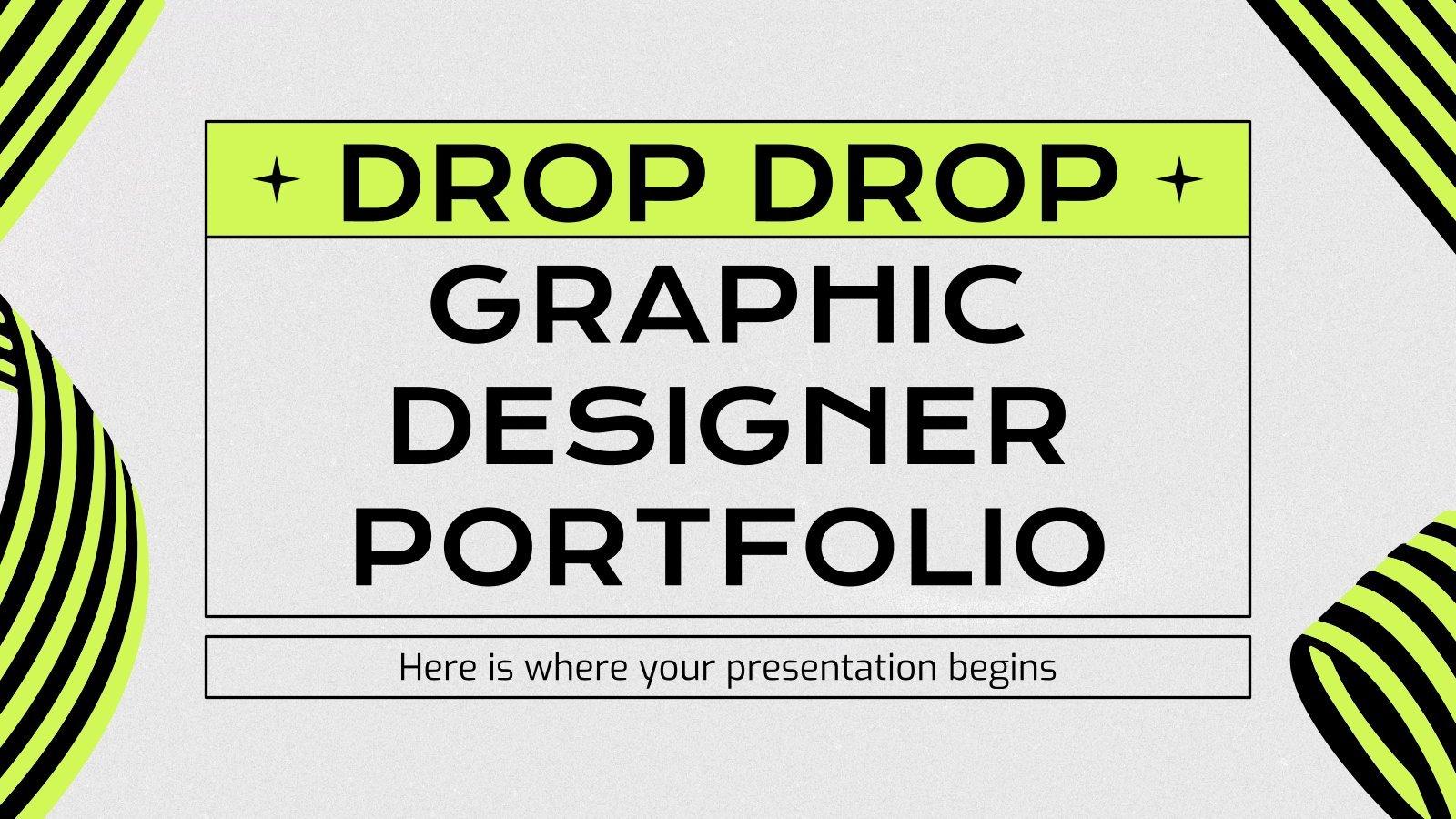 Modelo de apresentação Portfólio para designers gráficos