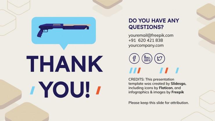 Gun Control Thesis presentation template