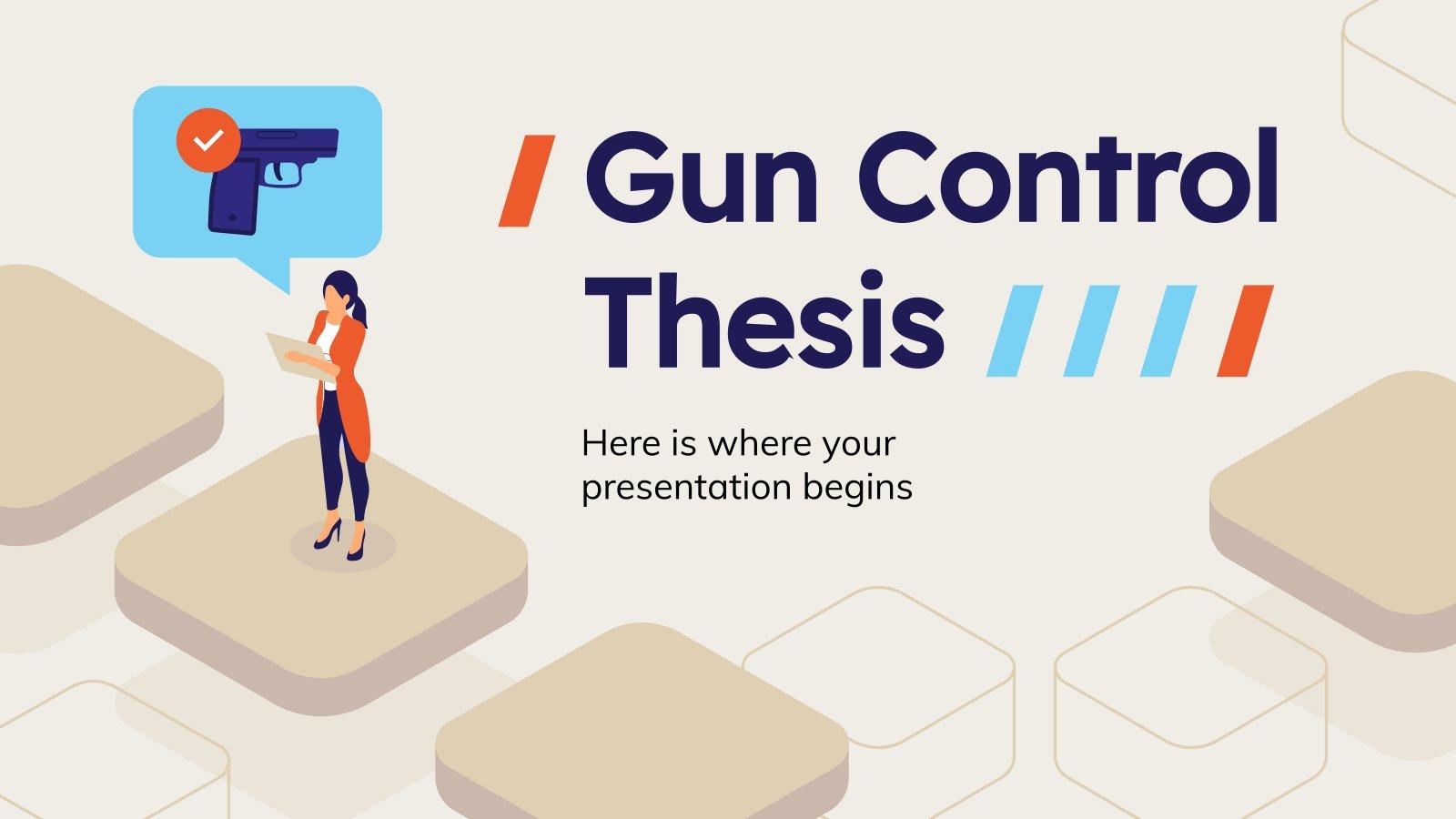 Modelo de apresentação Teses sobre controle de armas