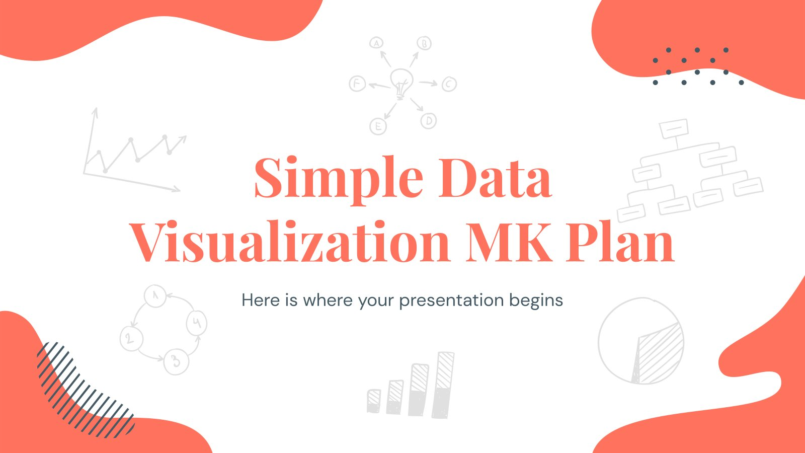 Simple Data Visualization MK Plan presentation template