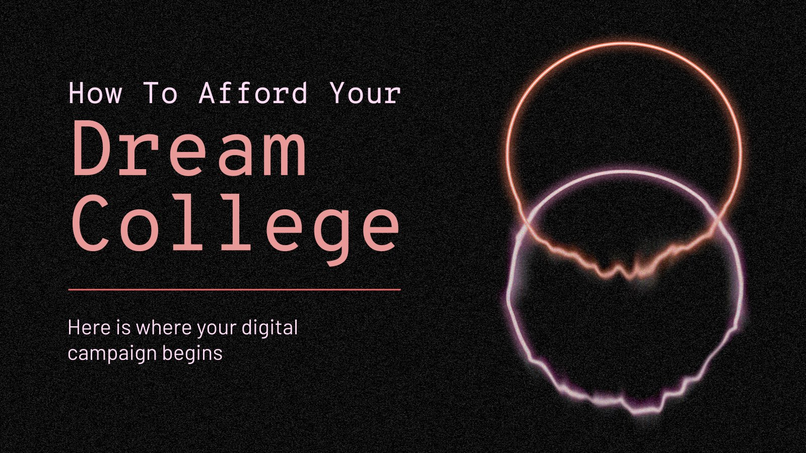 Modelo de apresentação Como ir para a faculdade dos seus sonhos