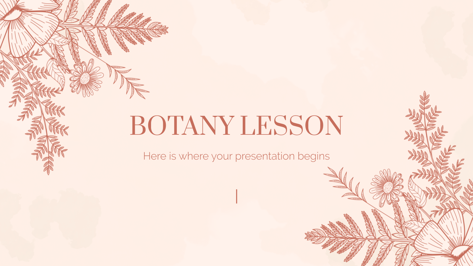 Botany Lesson presentation template