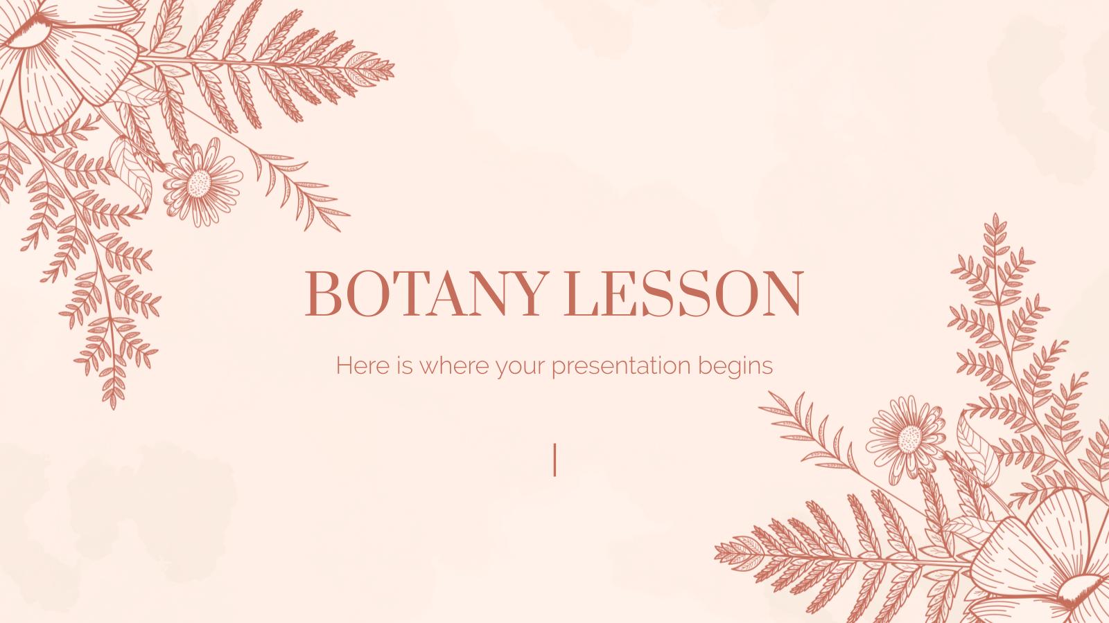Modelo de apresentação Aula de botânica