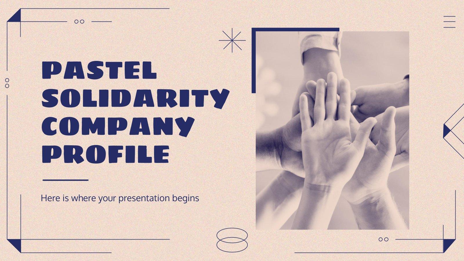 Pastel Solidarity Company Profile presentation template