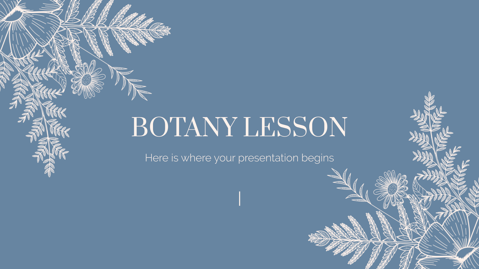 Plantilla de presentación Clase de botánica