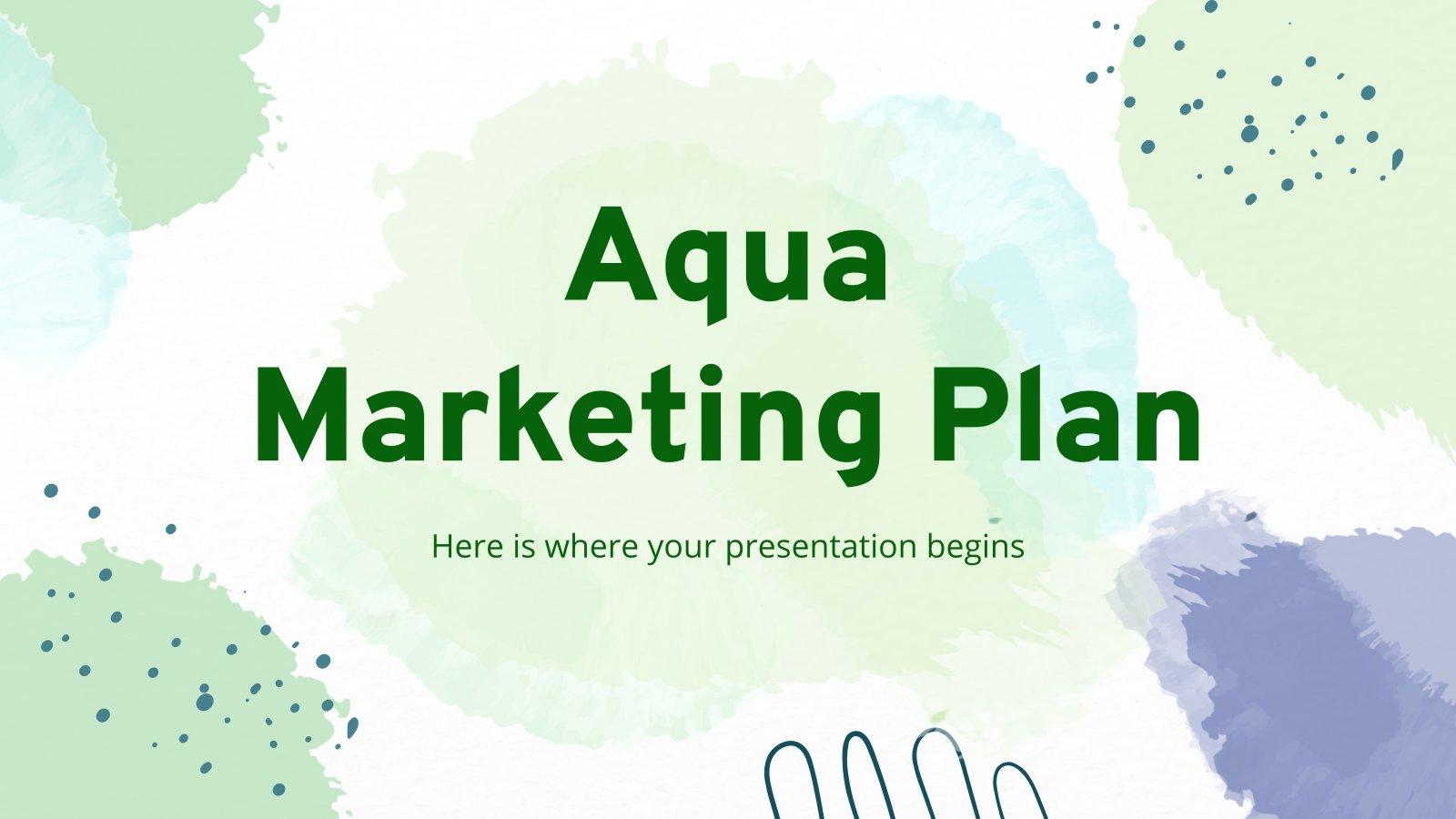 Aqua Marketingplan Präsentationsvorlage