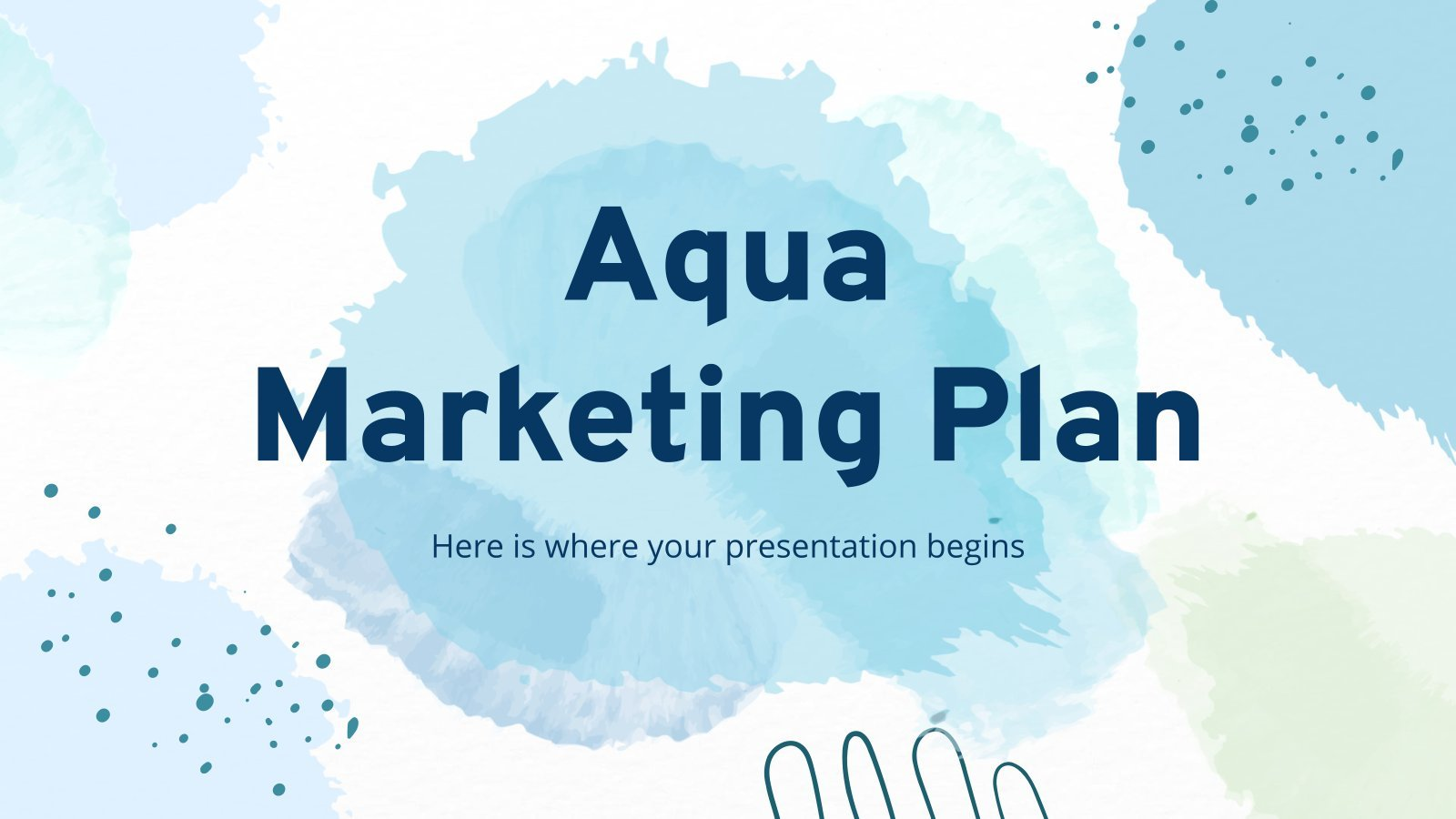 Plantilla de presentación Plan de marketing Aqua