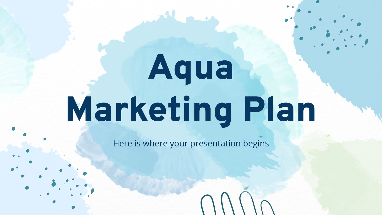 Aqua Marketingplan Präsentationsvorlage