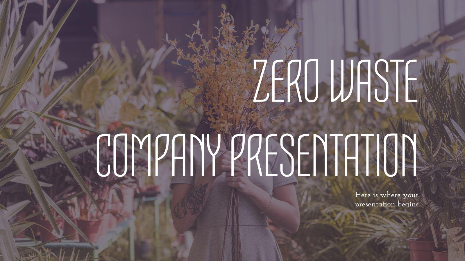 Entreprise «Zéro Déchet» : Modèles de présentation