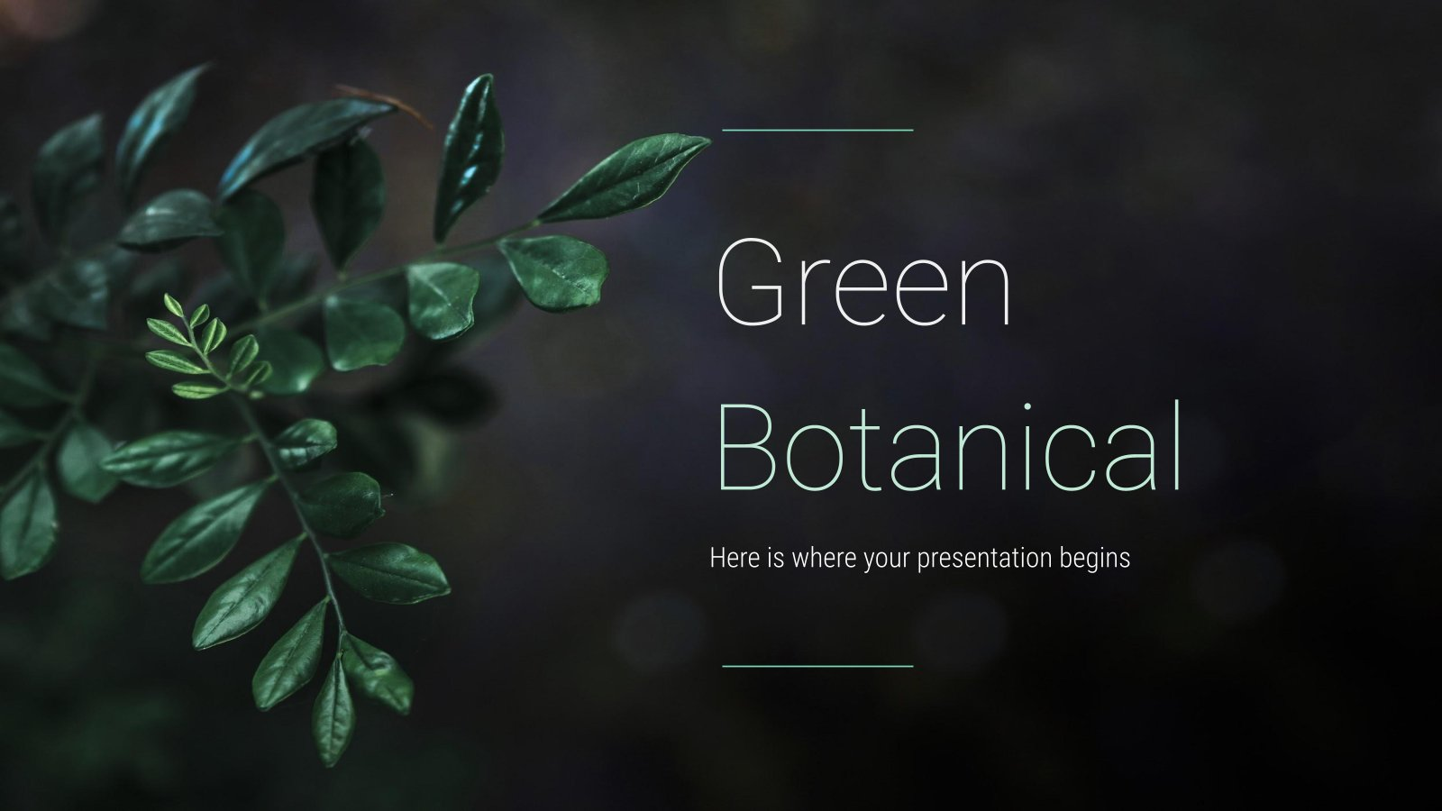 Green Botanical presentation template