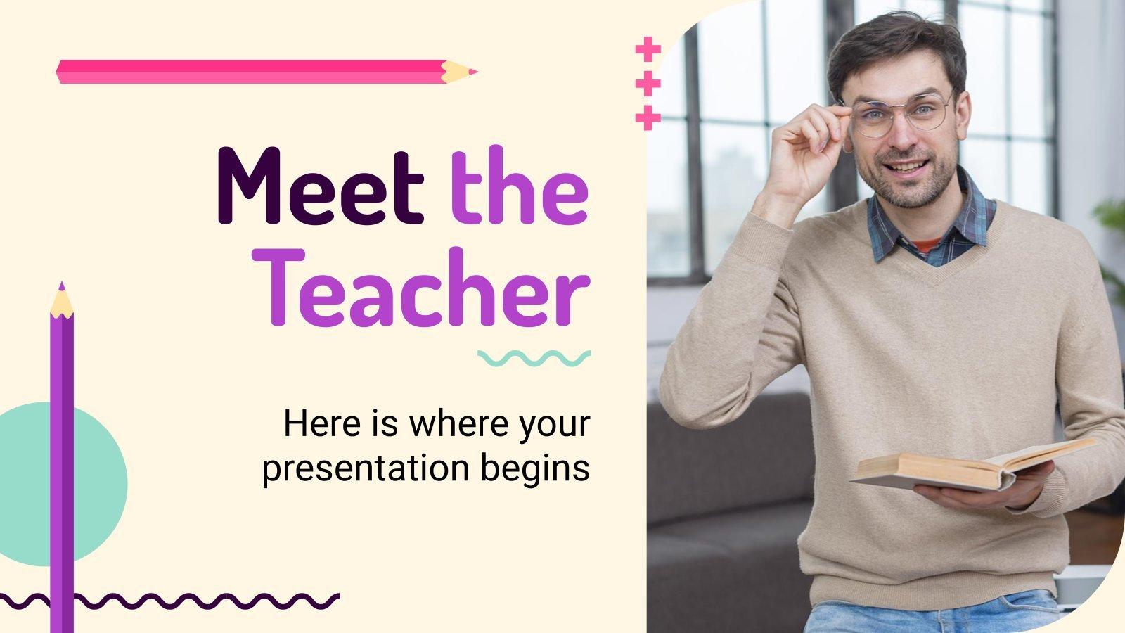 Meet the Teacher presentation template