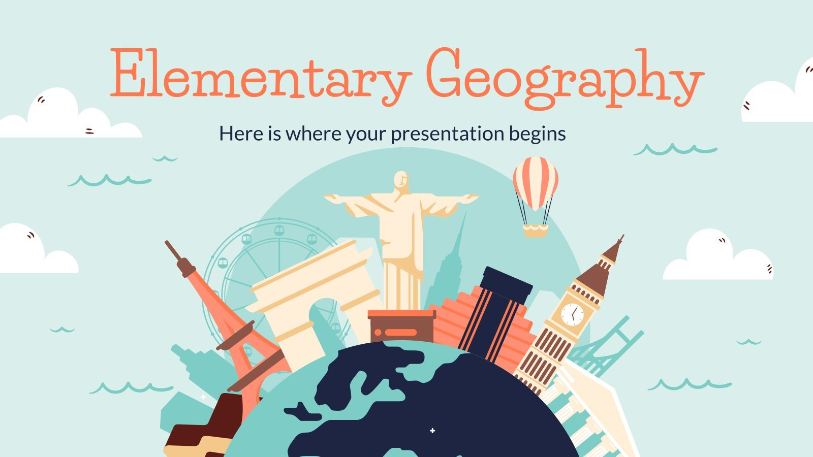 Elementary Geography Lesson presentation template