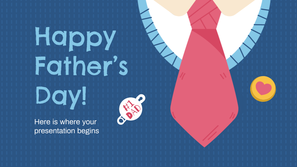 Father's Day presentation template