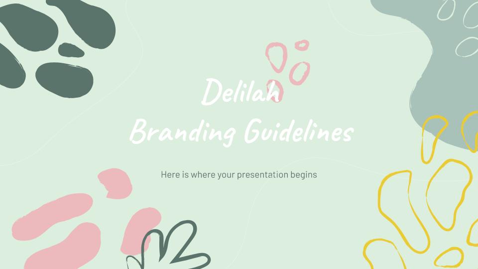Lignes directrices de l'image de marque Delilah : Modèles de présentation