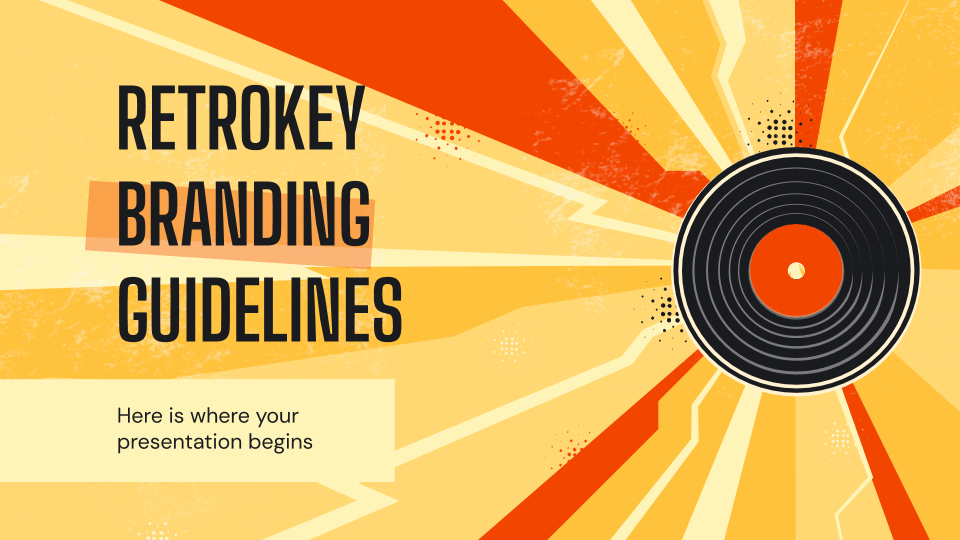 Lignes directrices de marque Retrokey : Modèles de présentation