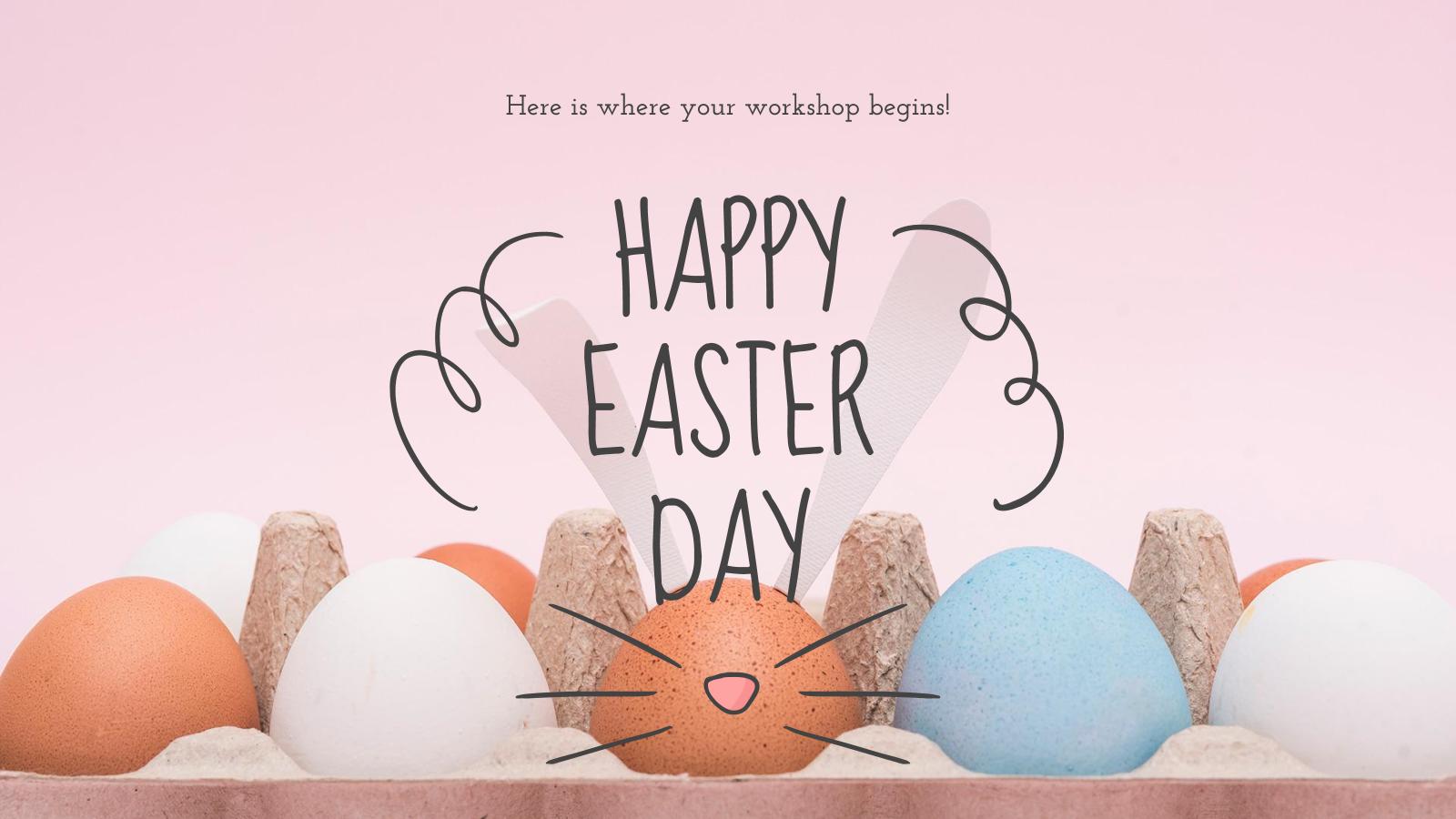 Modelo de apresentação Curso de ovos de Páscoa