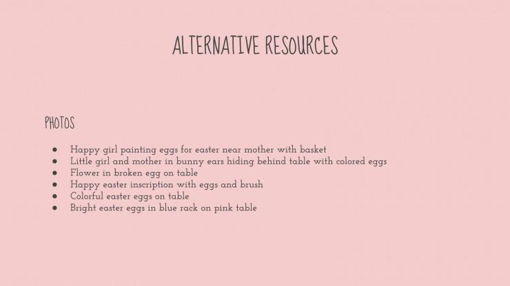 Plantilla de presentación Taller de huevos de Pascua