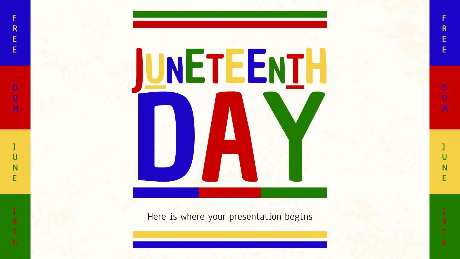 Juneteenth Day presentation template