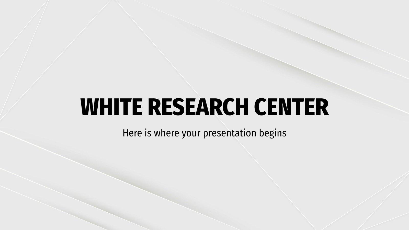 White Research Center presentation template