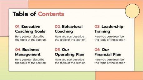 Modelo de apresentação Processo de coaching executivo