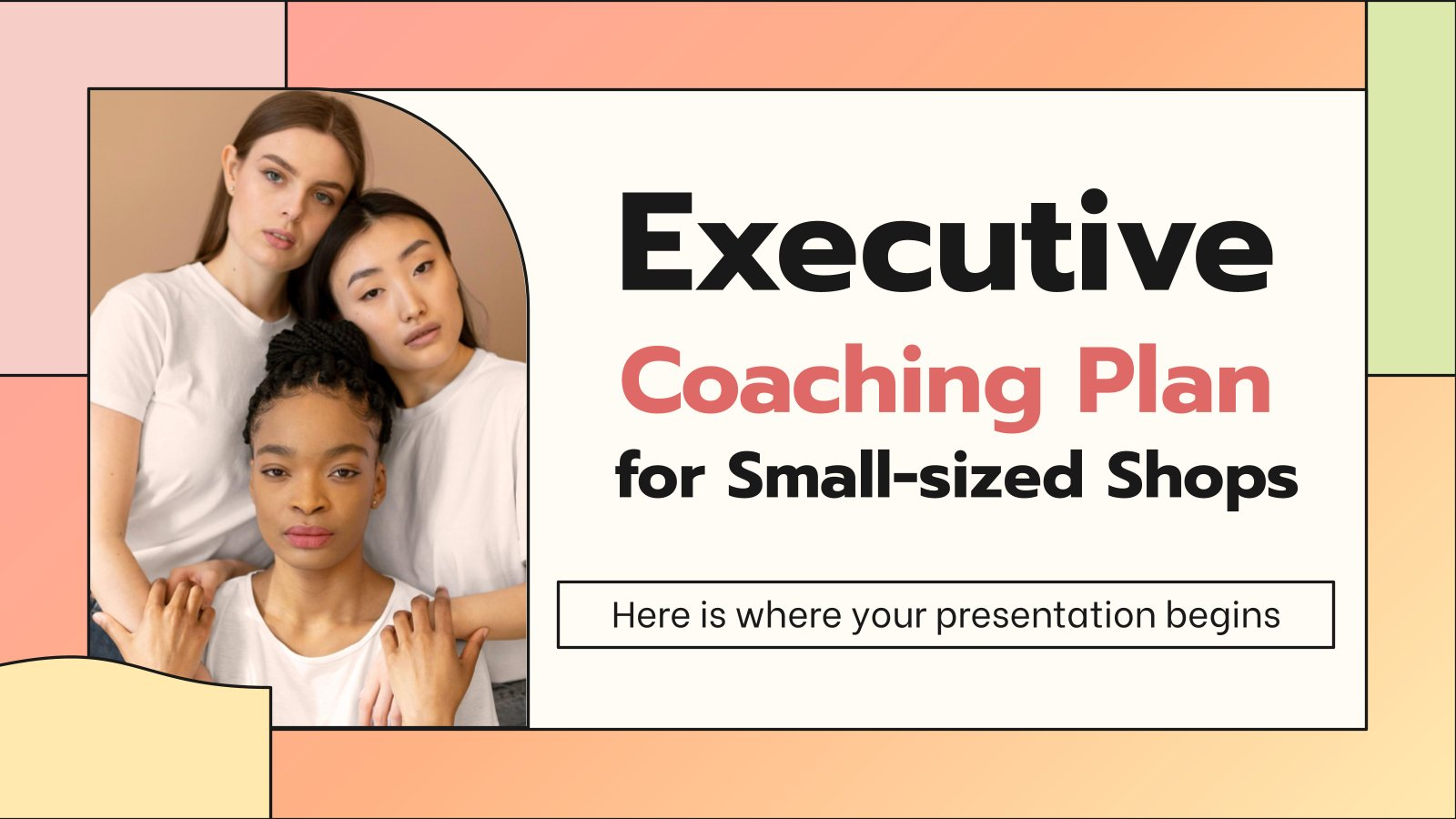 Executive Coaching Plan for Small-sized Shops presentation template