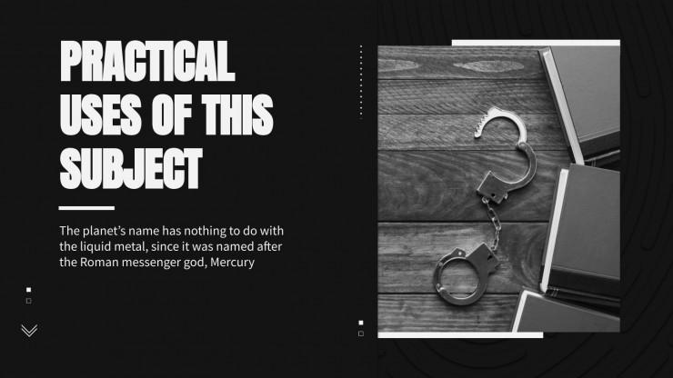 Crime Scene Investigation presentation template