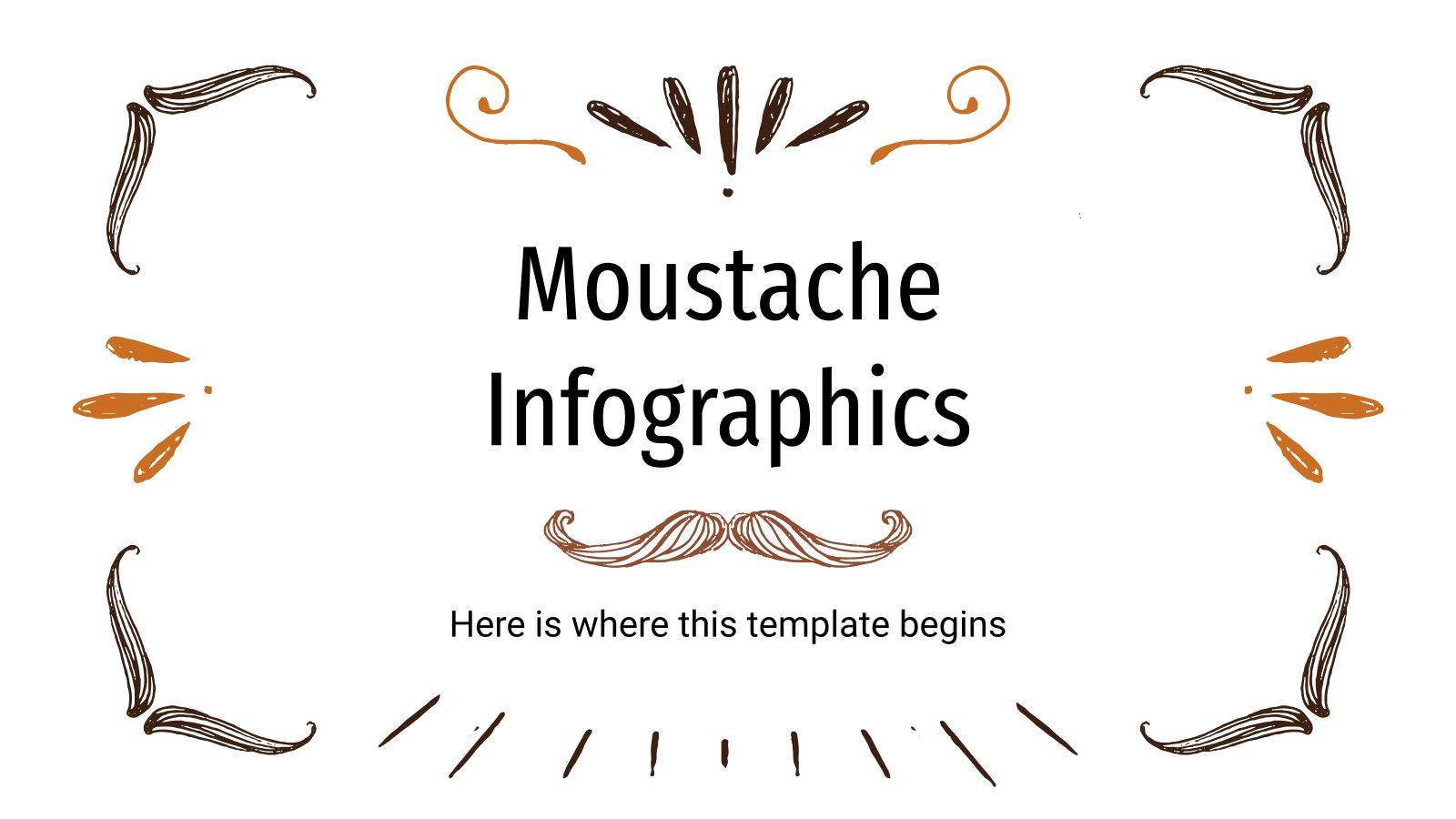 Schnurrbart Infografiken Präsentationsvorlage