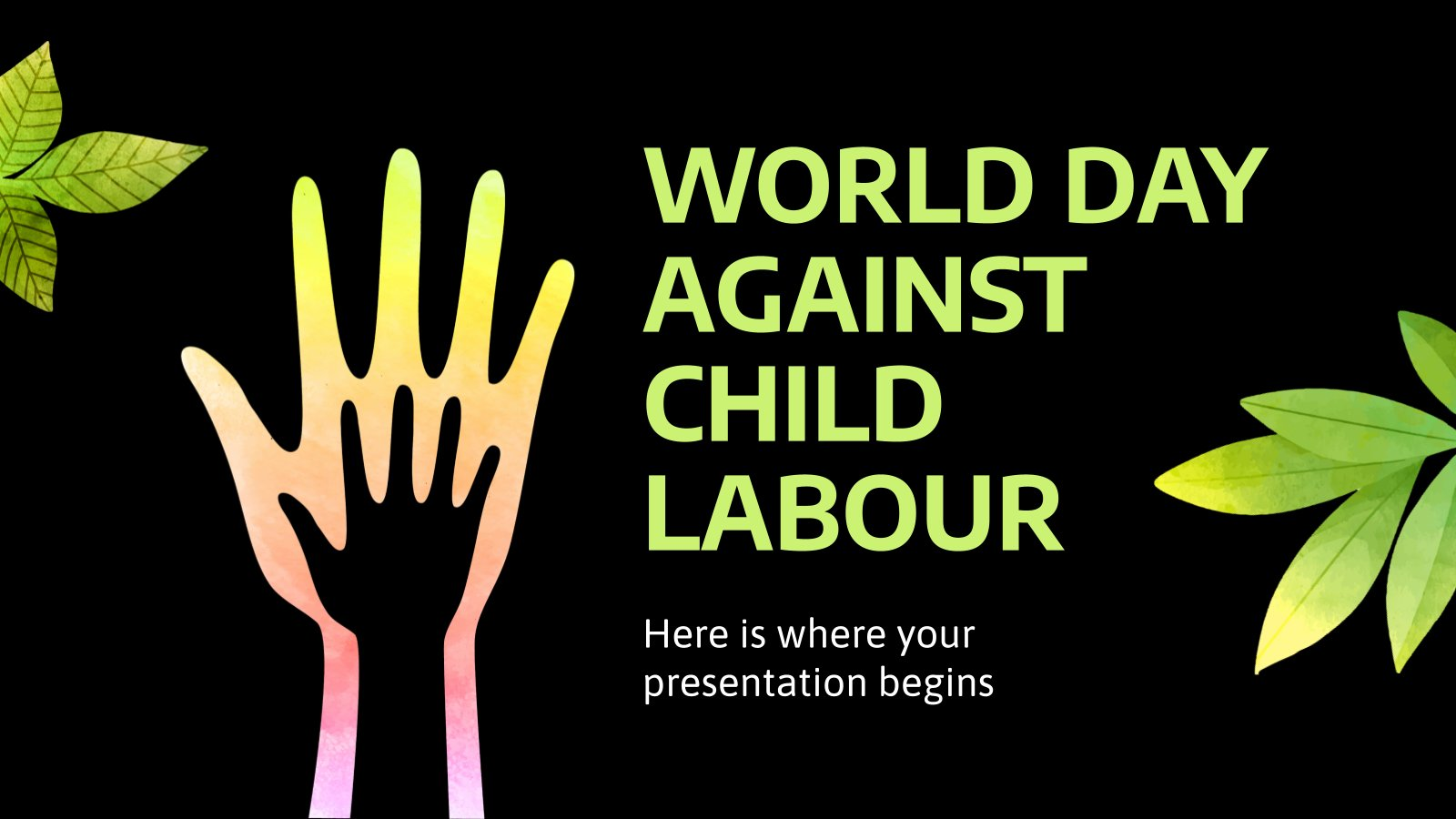 World Day Against Child Labour presentation template