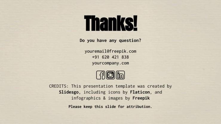 Visual Conversation Newsletter presentation template