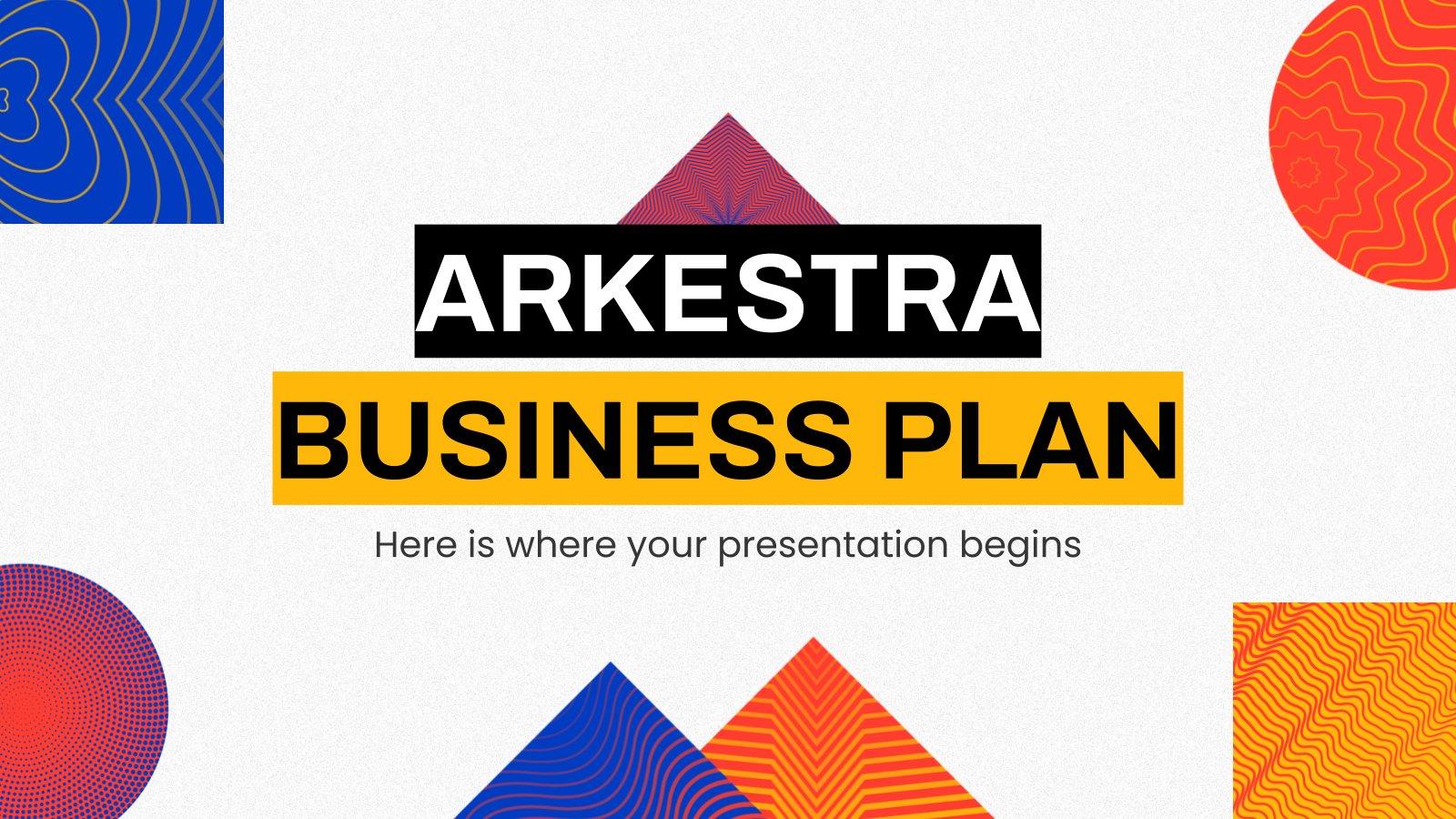 Arkestra Business Plan presentation template