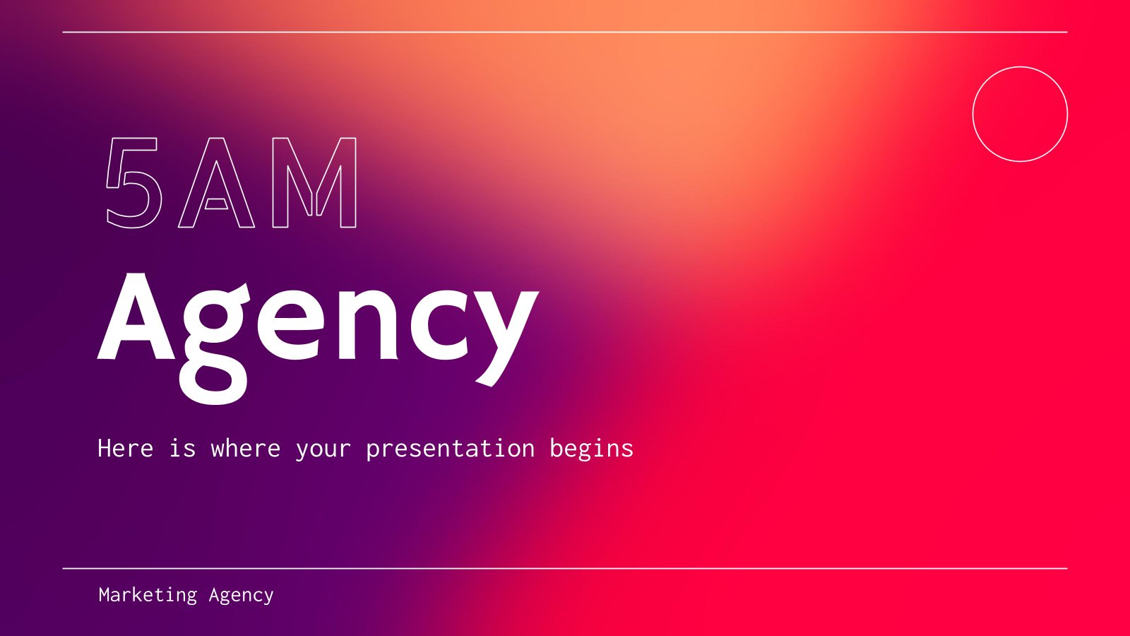 5AM Agency presentation template